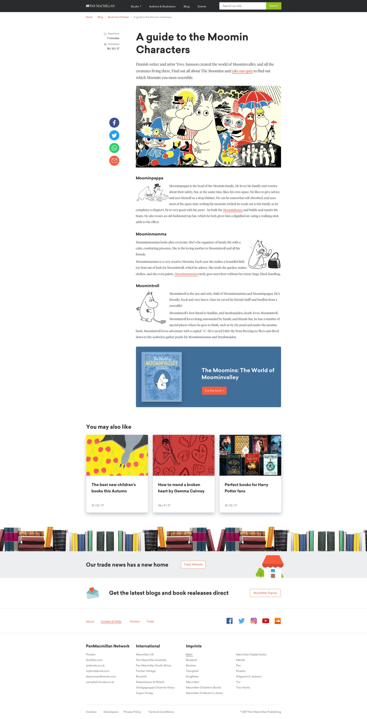 PanMac - Guide to Moomins Blog