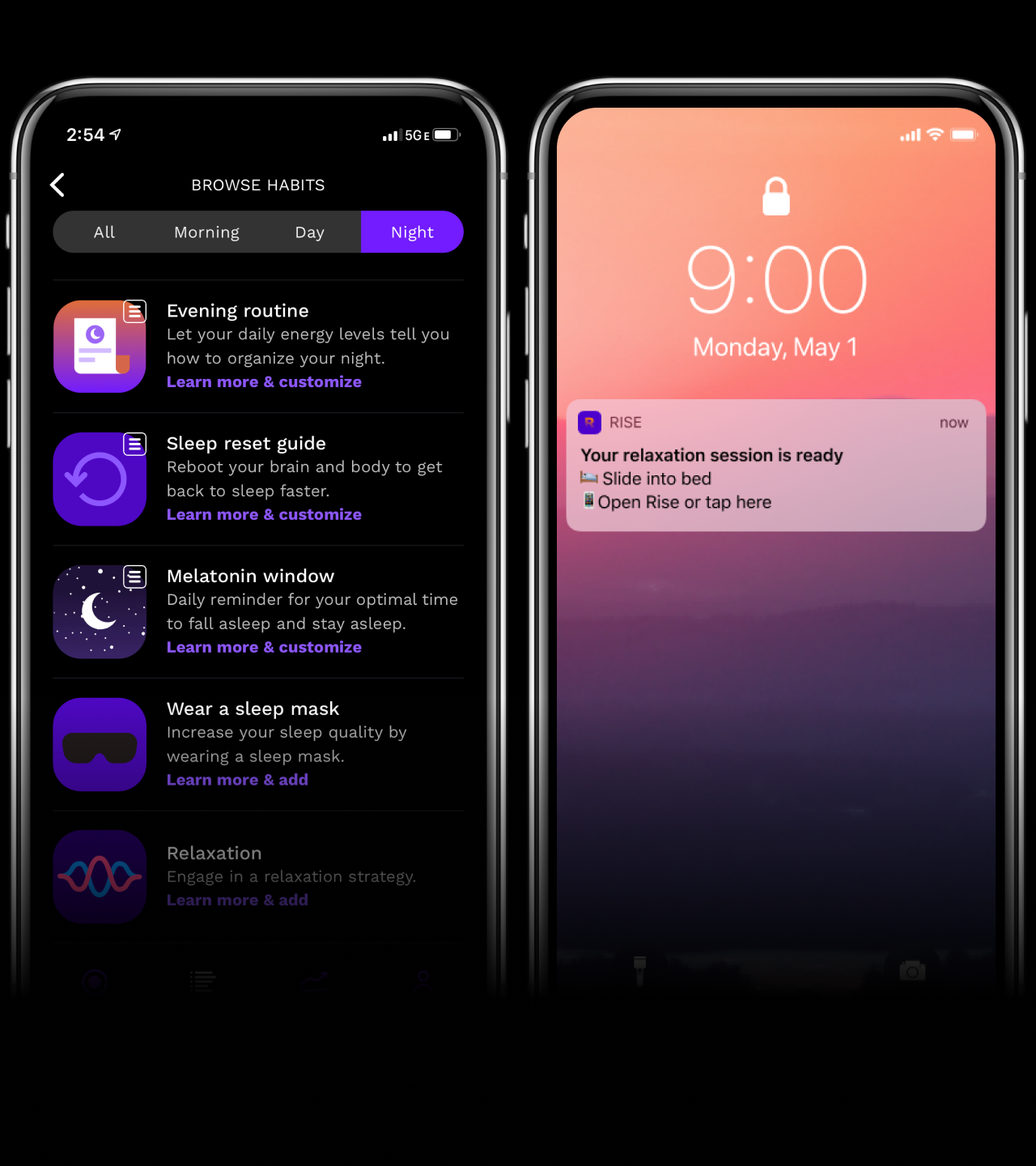 Rise Habits and Notifications