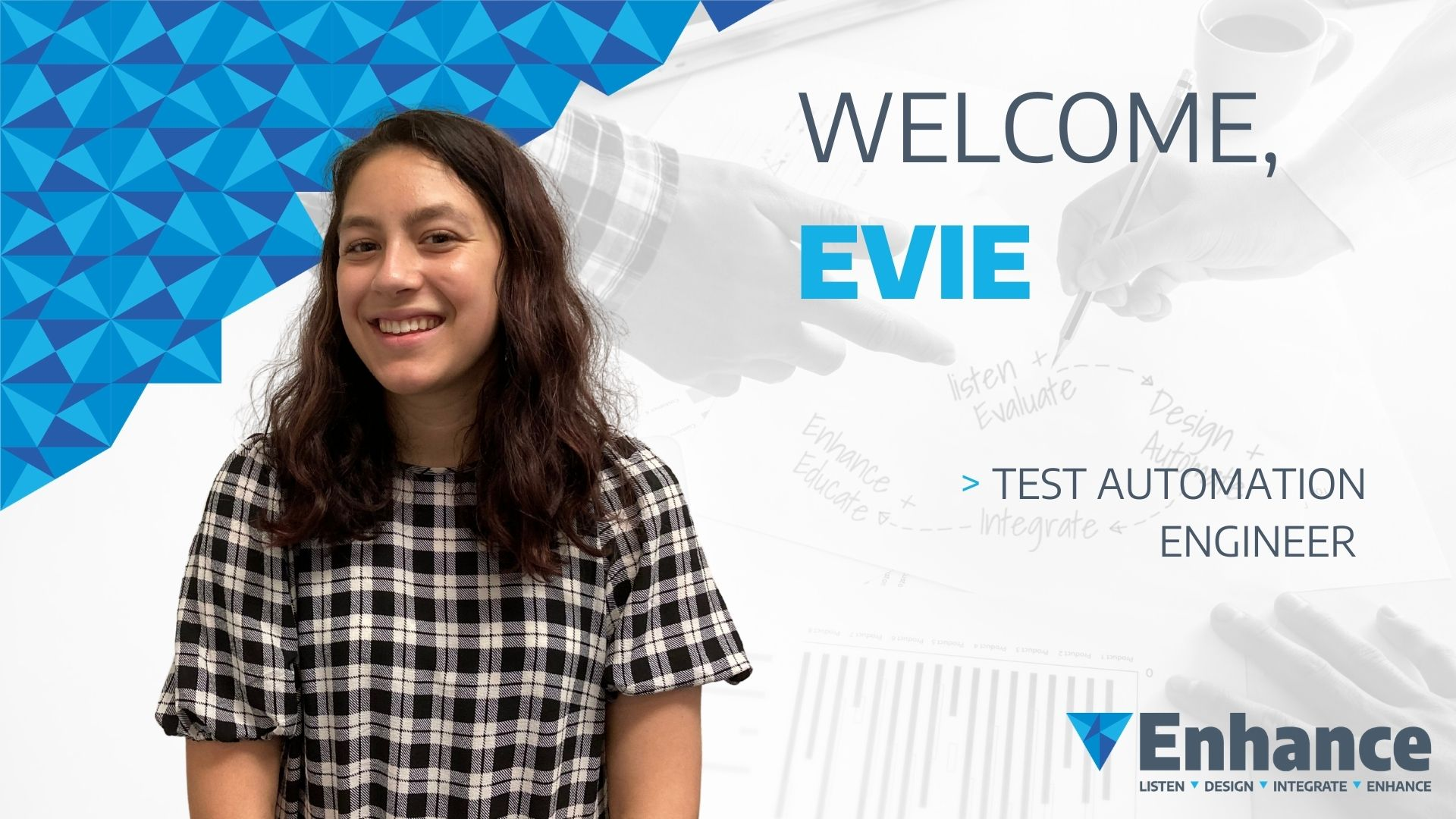 Evie Randall is one of the newest test automation engineers at Enhance Consulting in Wellington.