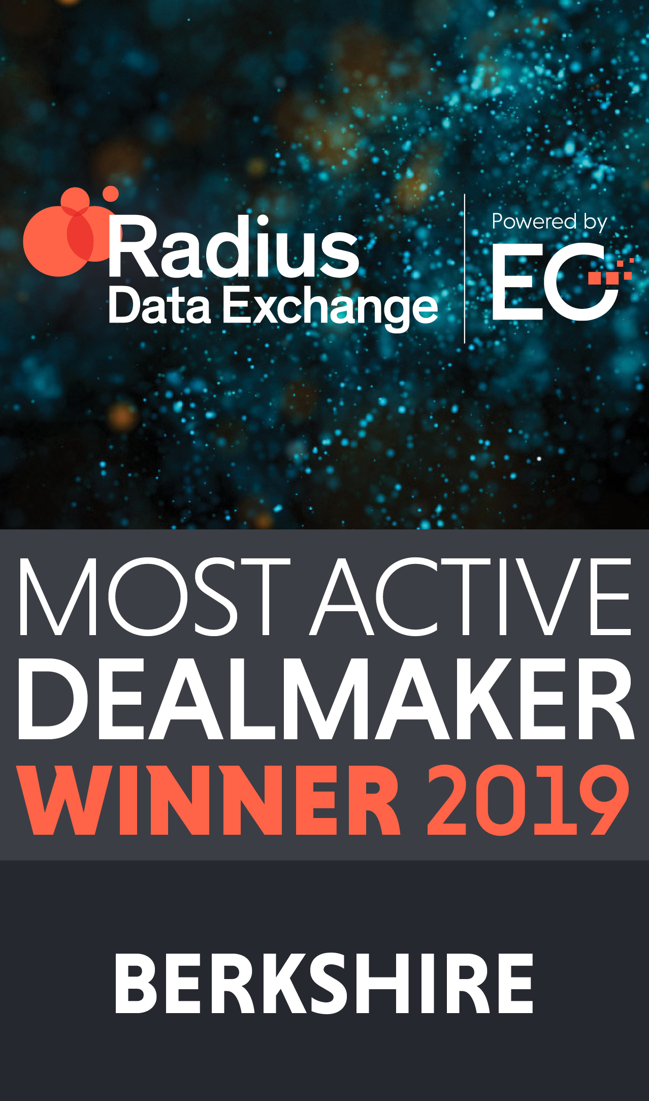 Radius Most Active Dealmaker winner 2019
