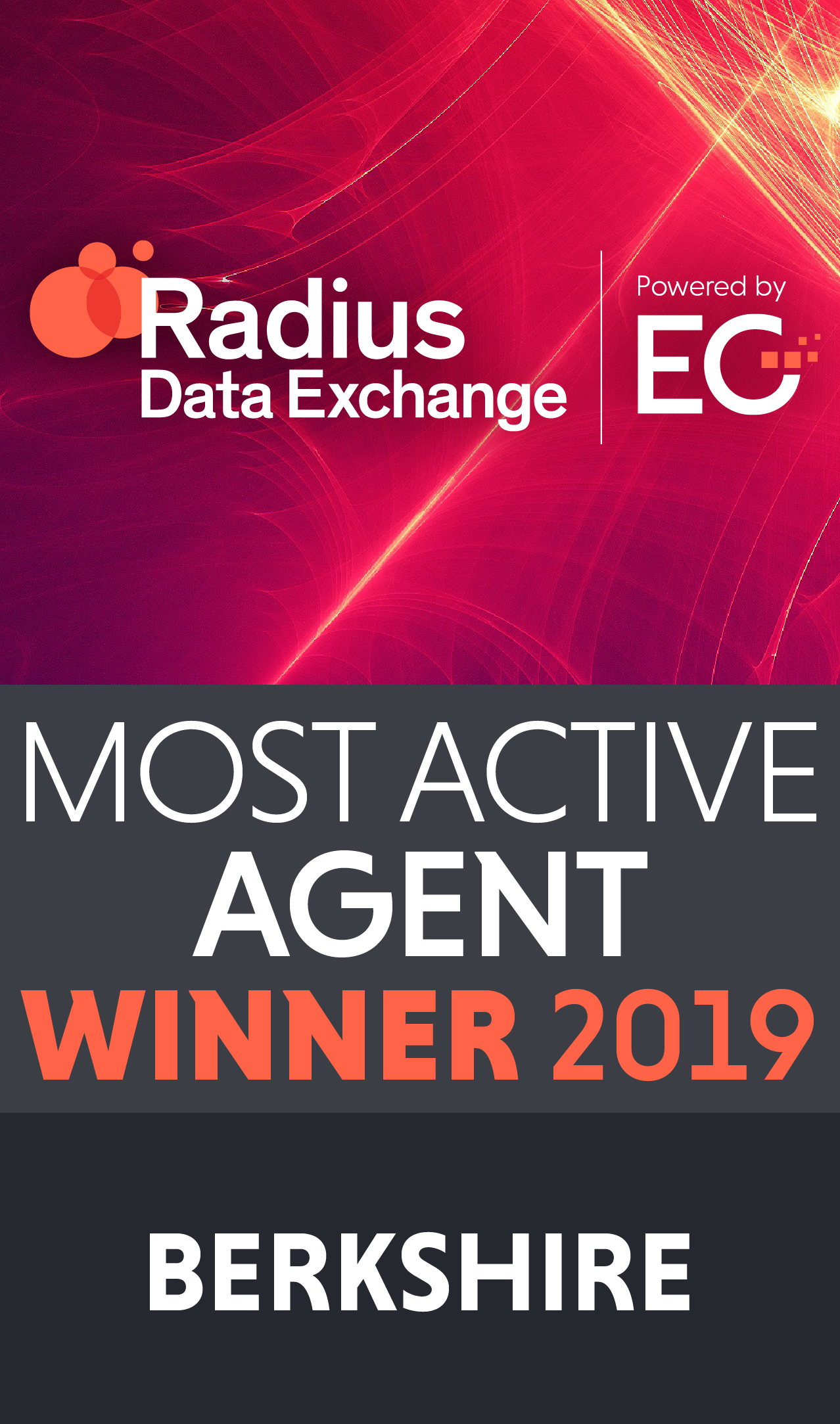 Most Active Agent winner 2019