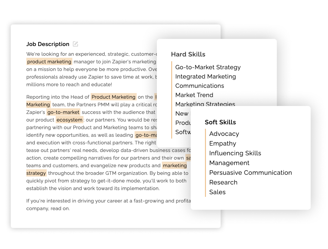 Keyword highlighting example