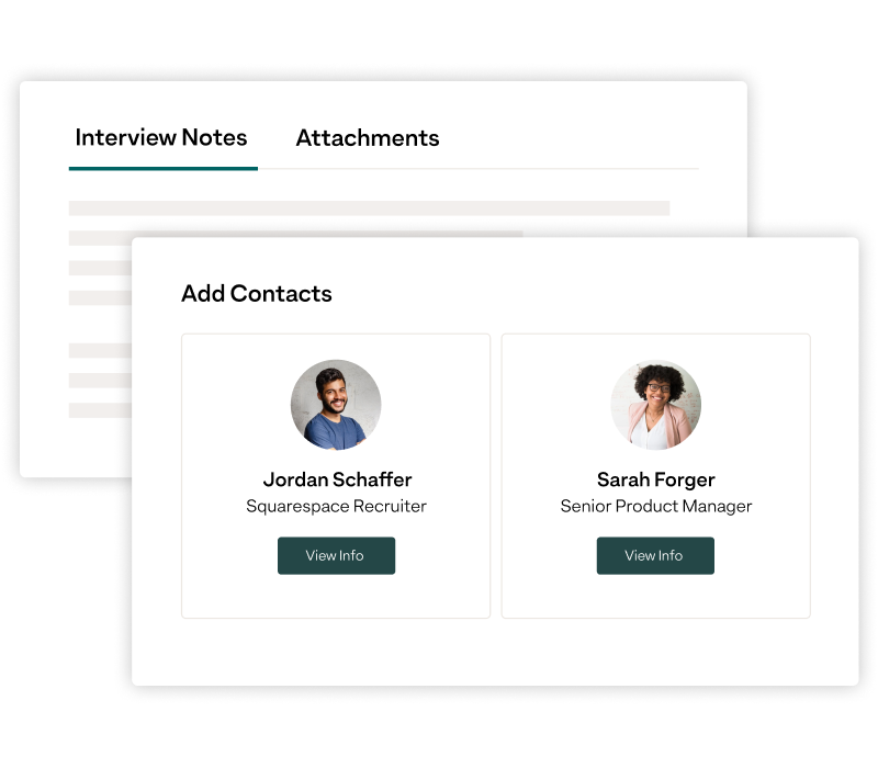 Attaching contacts and notes to job  opportunities