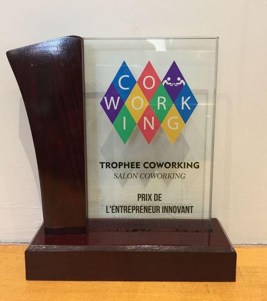 Trophée salon Coworking Prix de l'Entrepreneur Innovant pour Welcomr