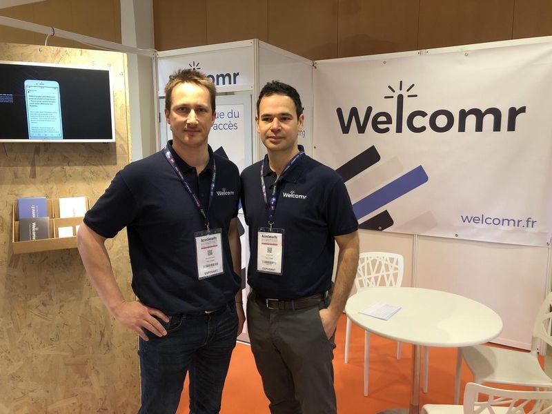 David Béchard, business developer et Jeremy Fain, DG Welcomr