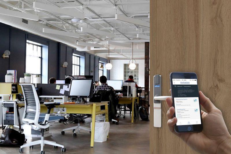 Solution de sécurisation de bureaux partagés, serrure connectée