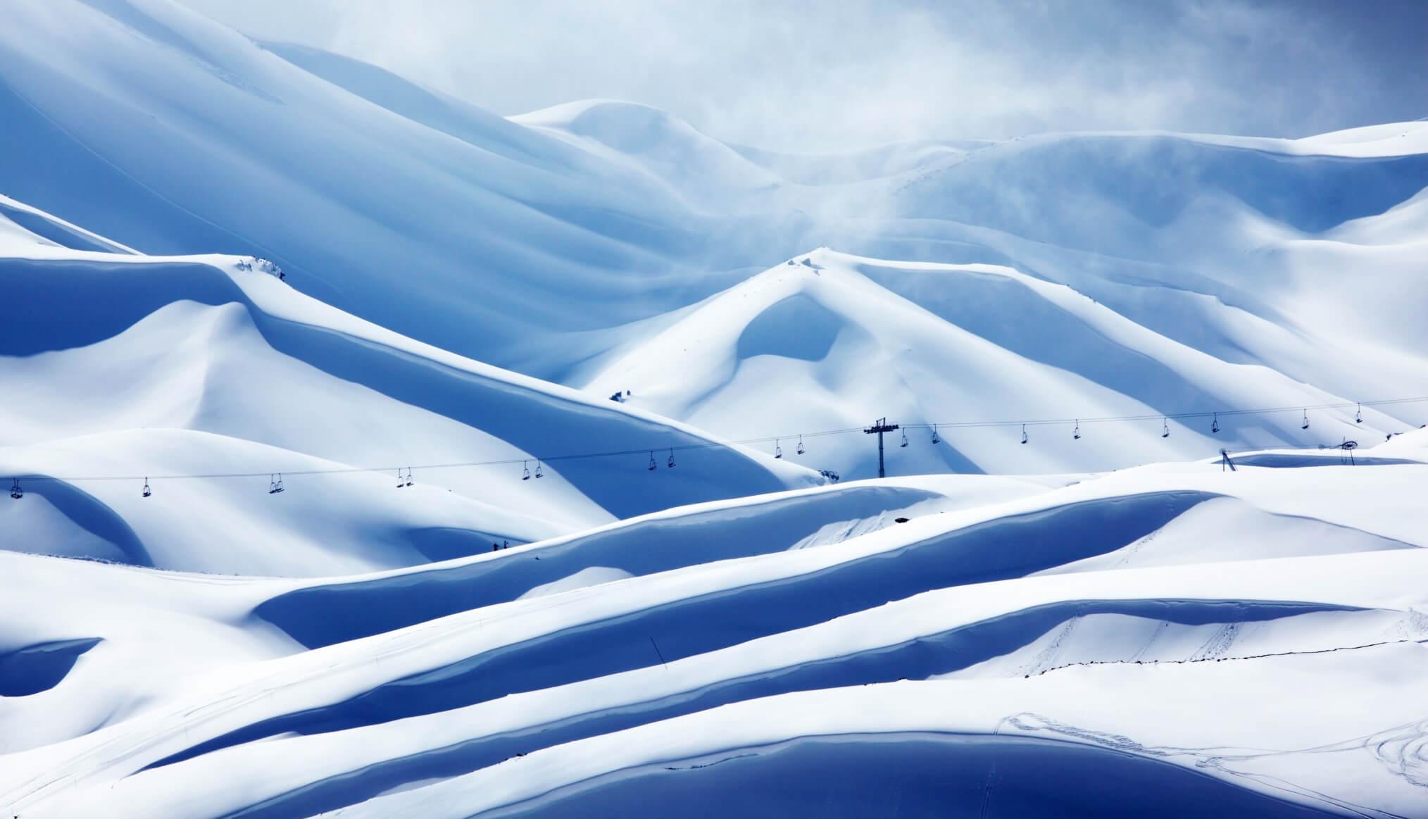piste de ski en montagne