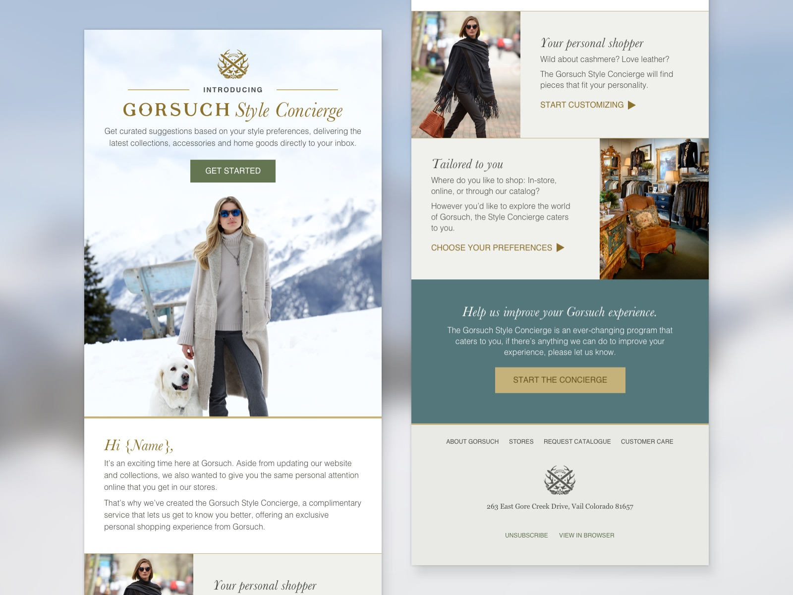 Style Concierge email design