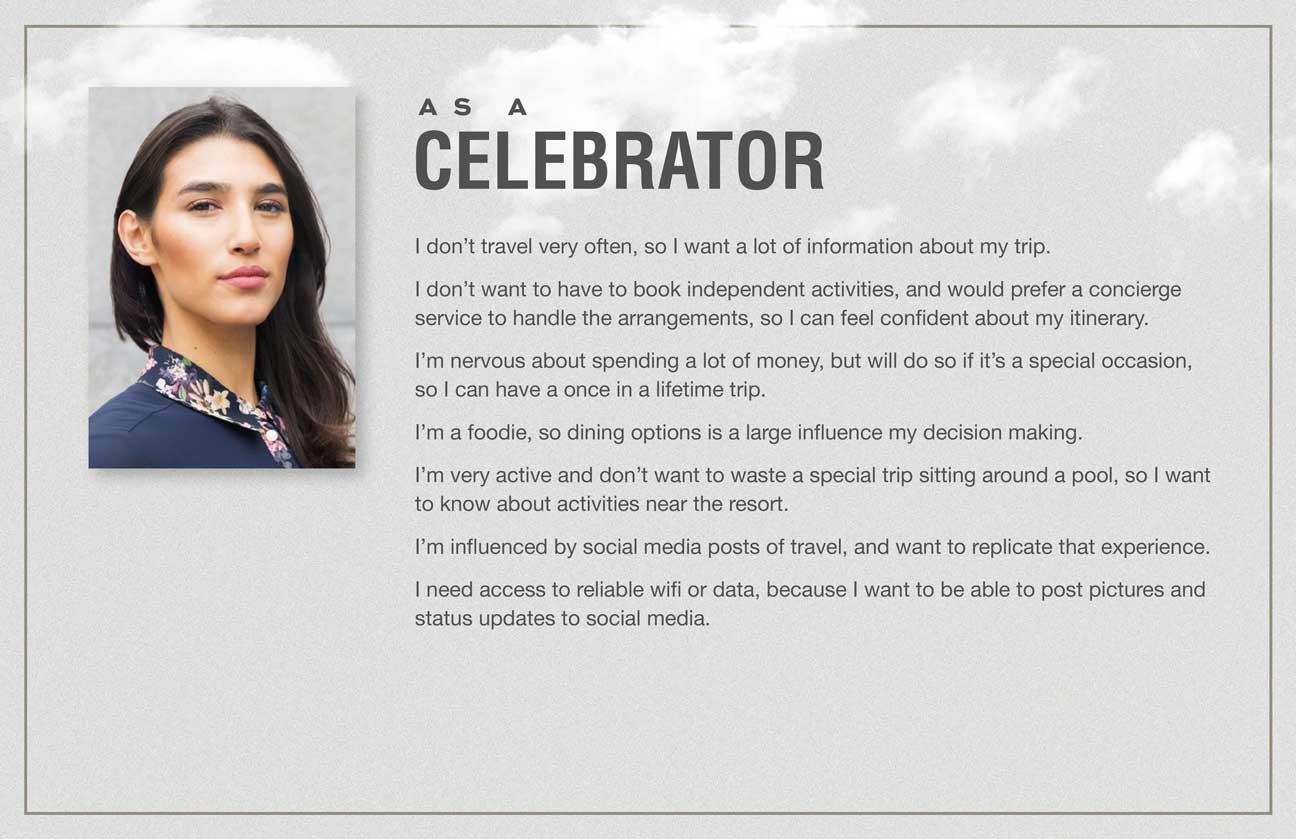 User stories for the Celebrator archetype.