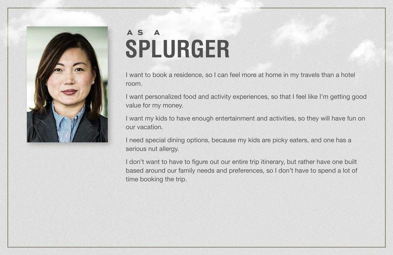 User stories for the Splurger archetype.