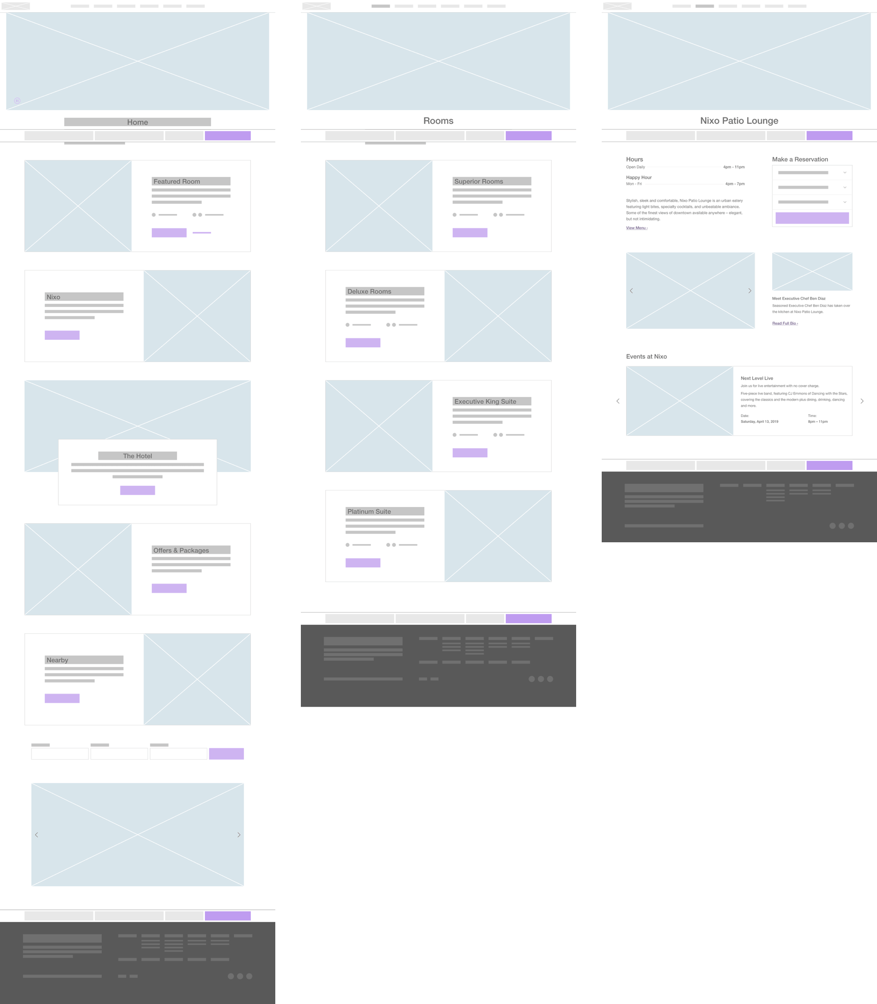 First wireframe concepts.
