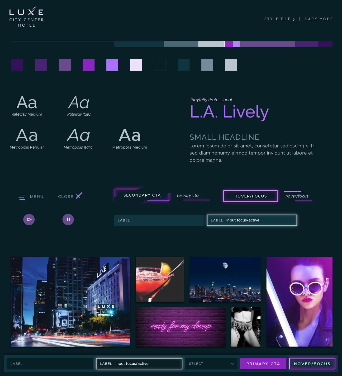 Style Tile Concept 3 - Dark Mode