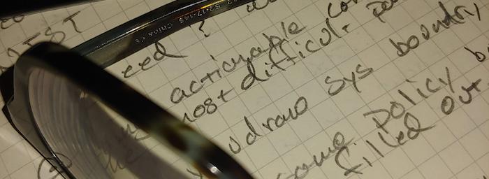 SOC 2 Audit notepad handwriting