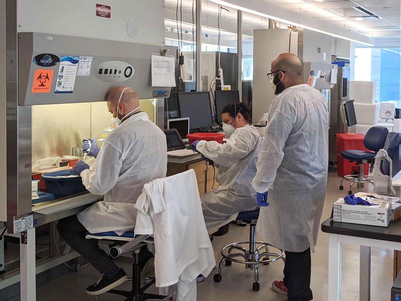 renegade.bio's Covid testing lab in NYC