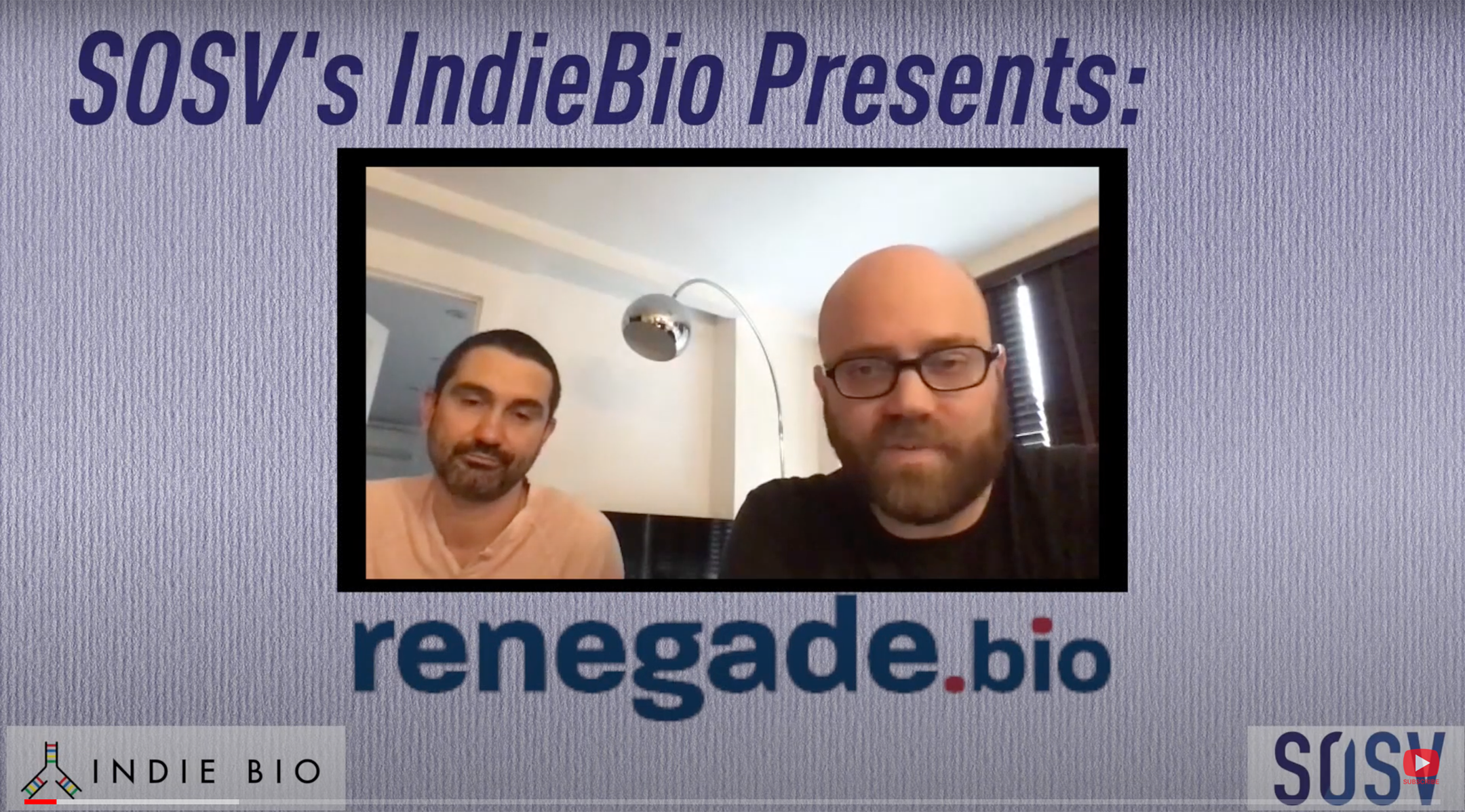 renegade.bio Cofounders Talk with SOSV & IndieBio