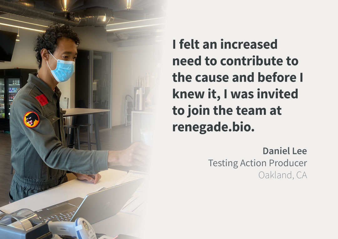 Daniel Lee on-site Covid testing for clients