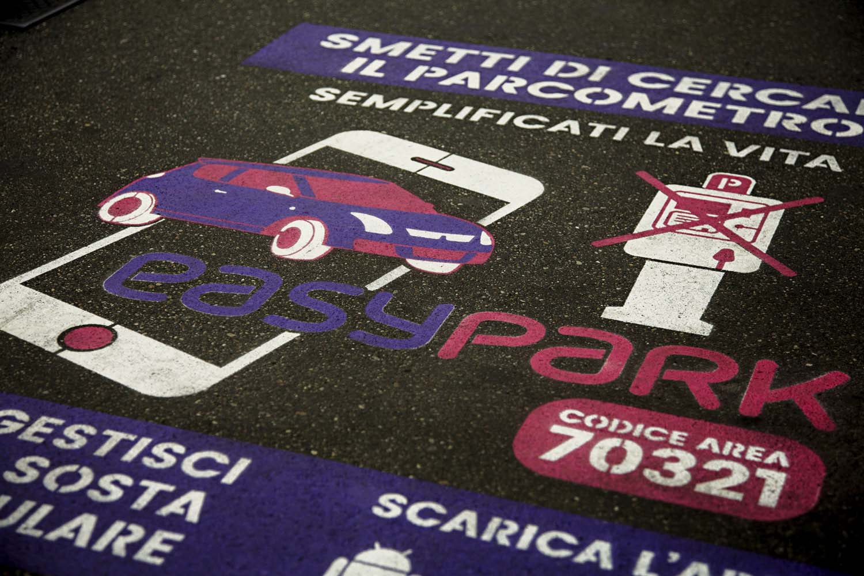 graffiti pubblicitari easypark