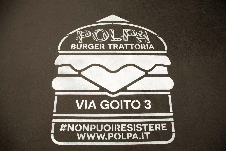 street marketing burger trattoria polpa