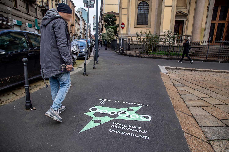 graffiti pubblicitari triennale di milano