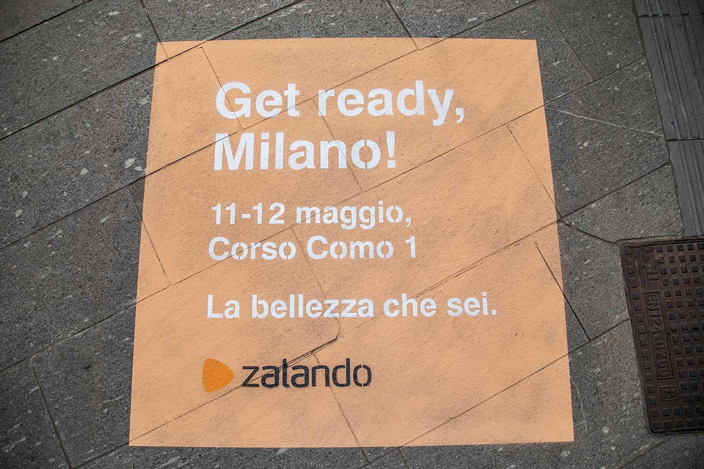street advertising zalando