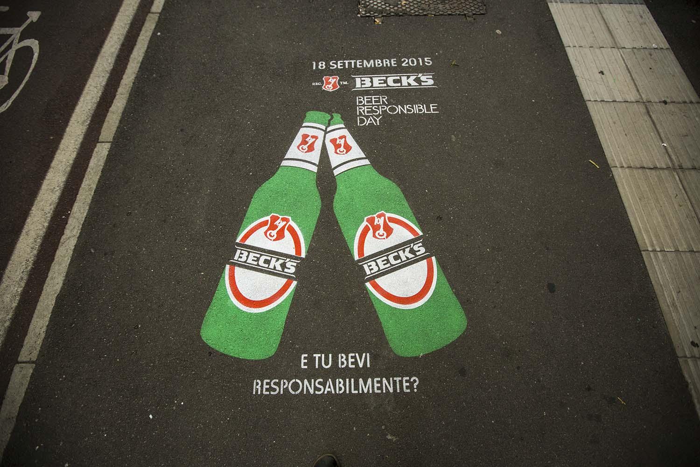 ambient marketing becks