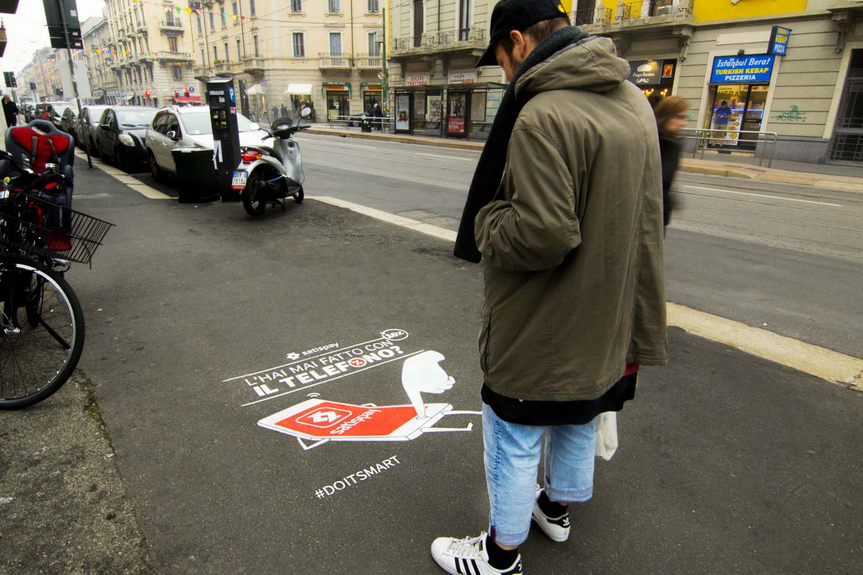 graffiti pubblicità satispay