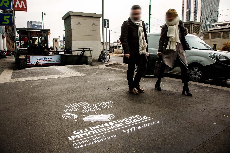 graffiti pubblicitari walliance