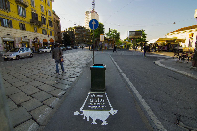 street advertisement amsa milano