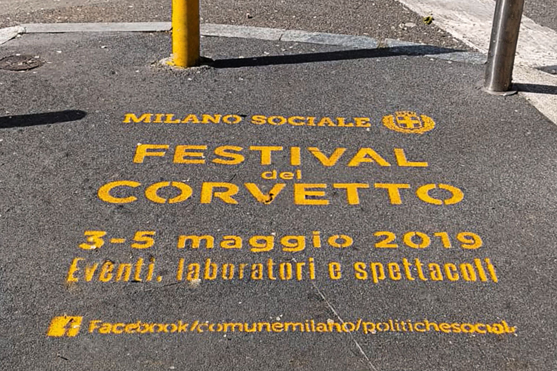 graffiti pubblicitari comune di milano corvetto festival