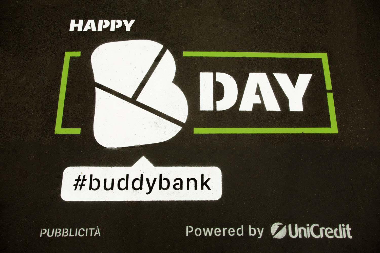 graffiti pubblicitari buddy bank
