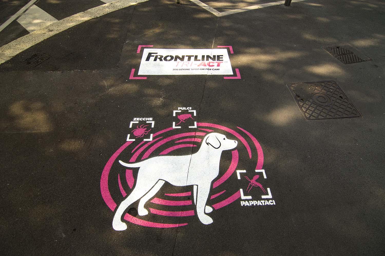 graffiti pubblicitari frontline