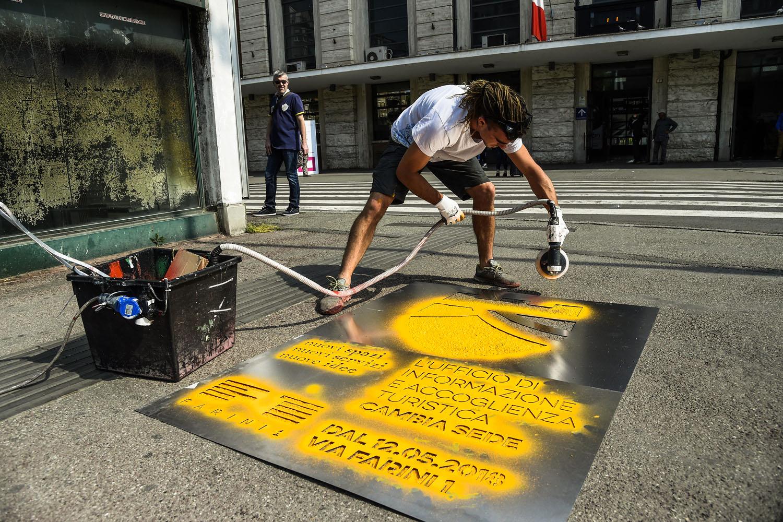 graffiti pubblicitari comune di reggio emilia