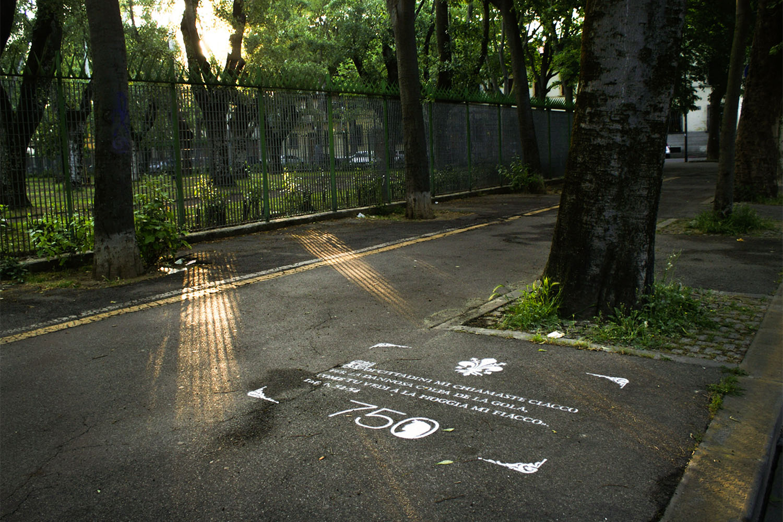 pubblicità marciapiedi comune di firenze