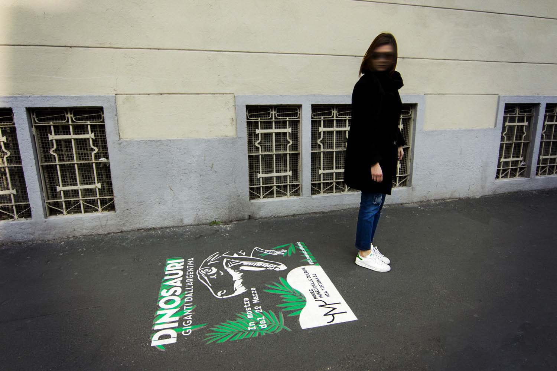 street advertising mudec dinosauri