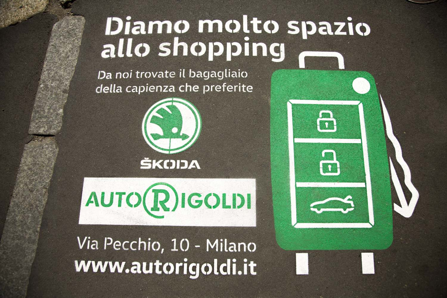 street advertising autorigoldi