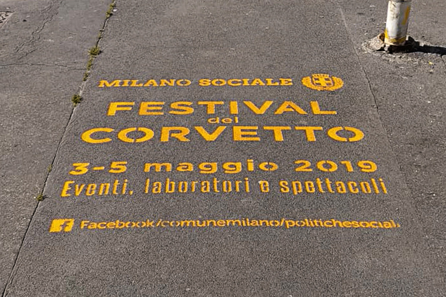 street advertising comune di milano corvetto festival