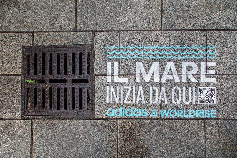 graffiti pubblicitari adidas worldrise