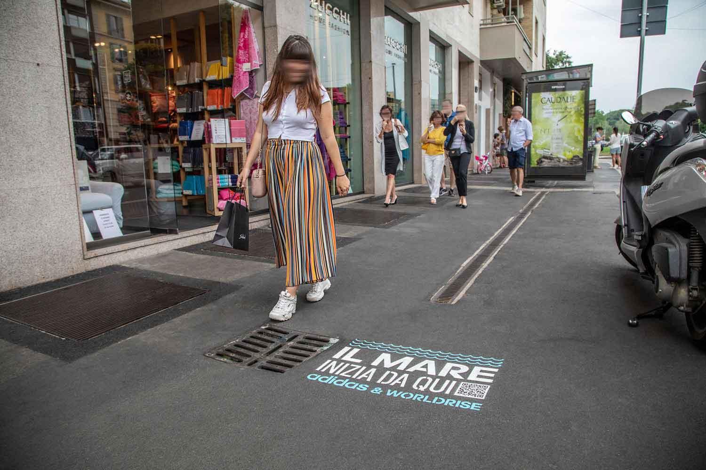 pubblicità outdoor adidas worldrise