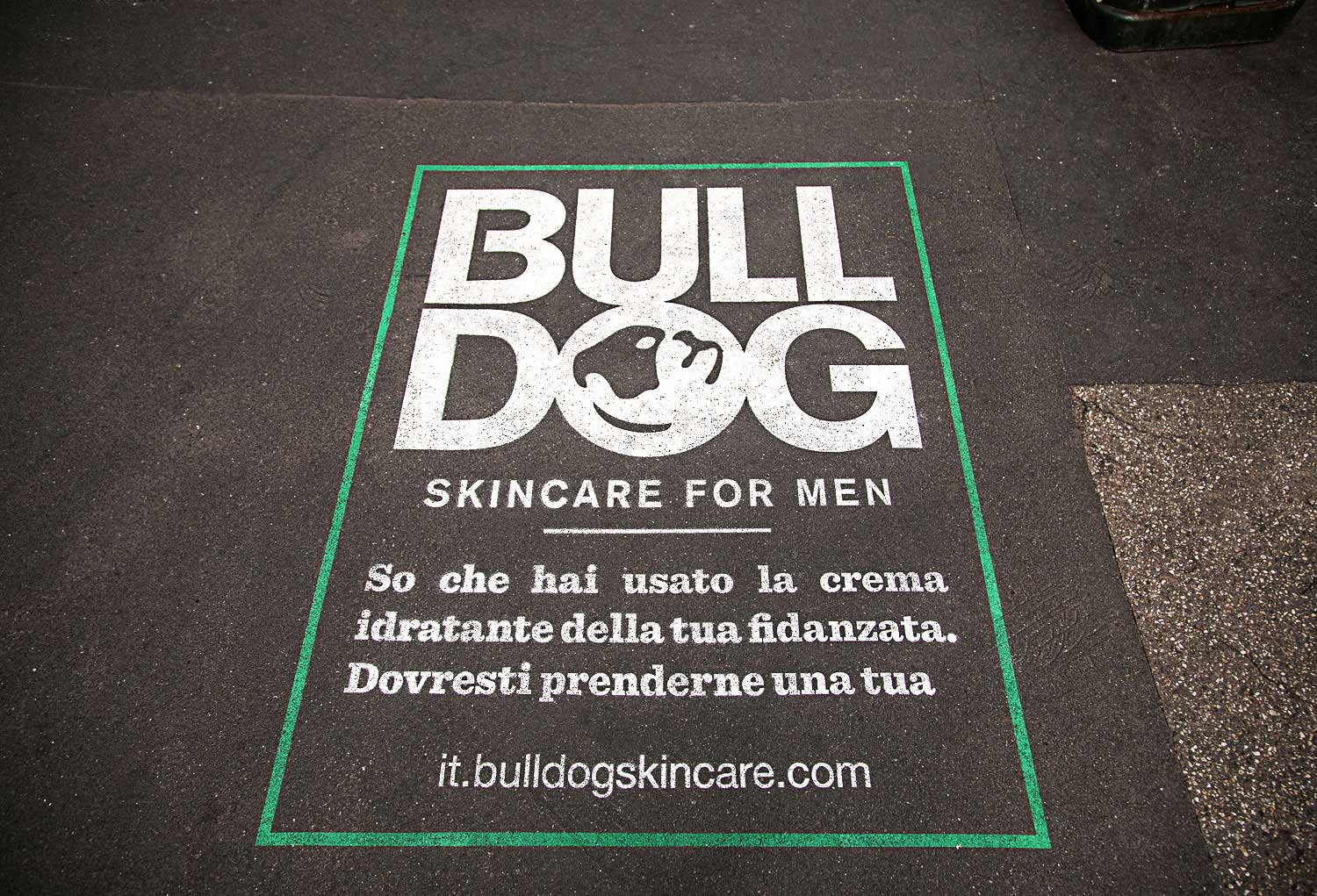 street marketing bulldog skincare