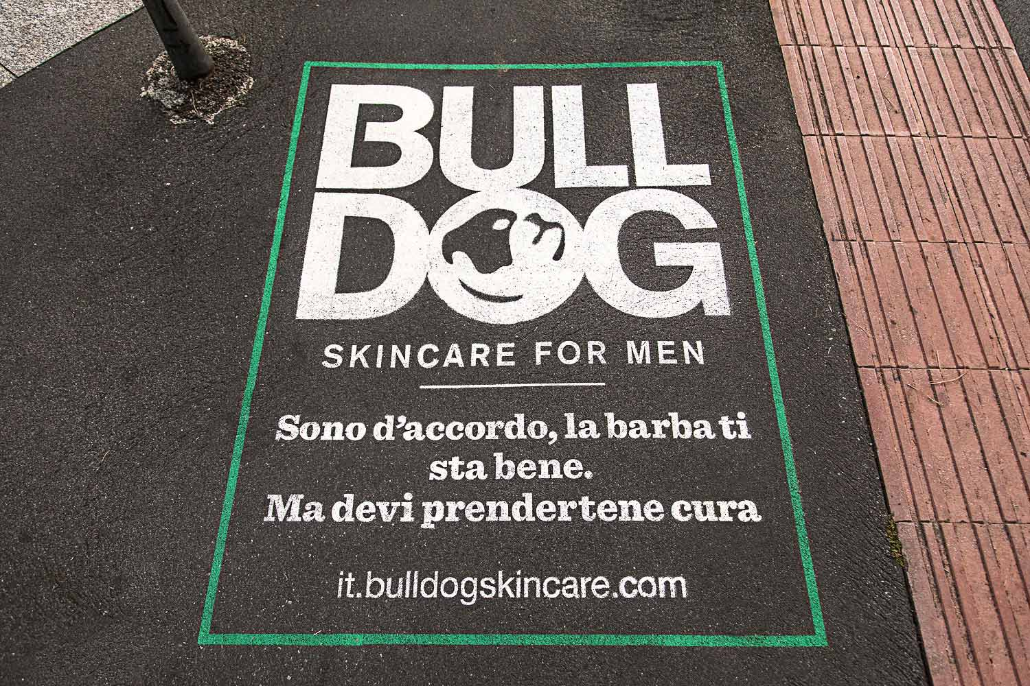 outdoor advertising bulldog skincare