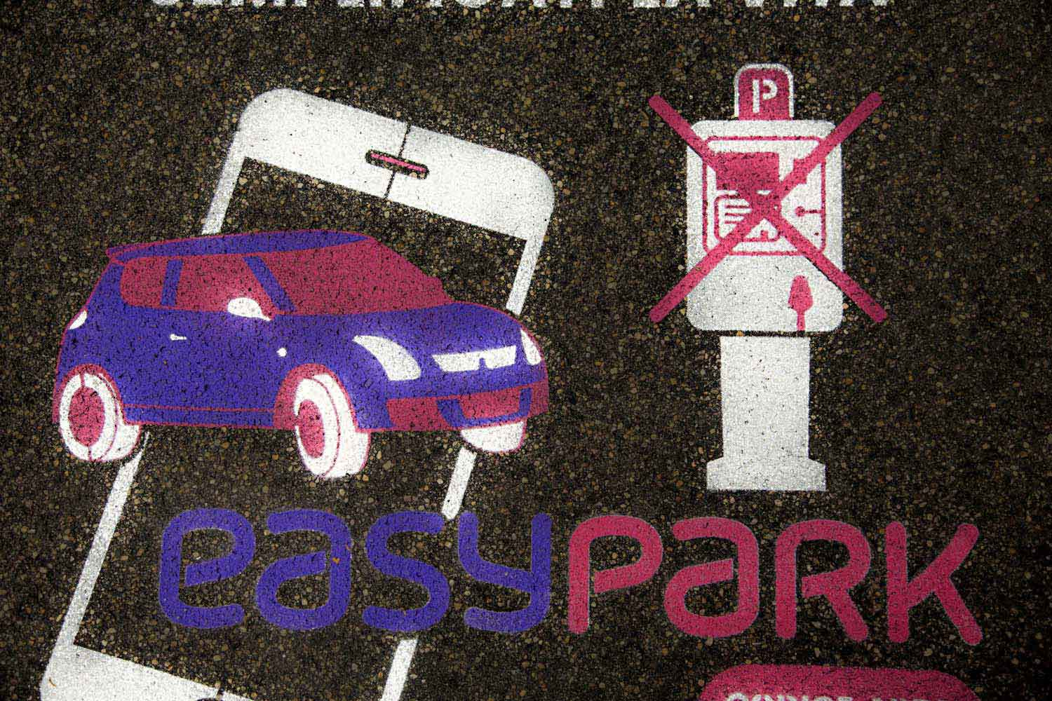 floor advertising easypark