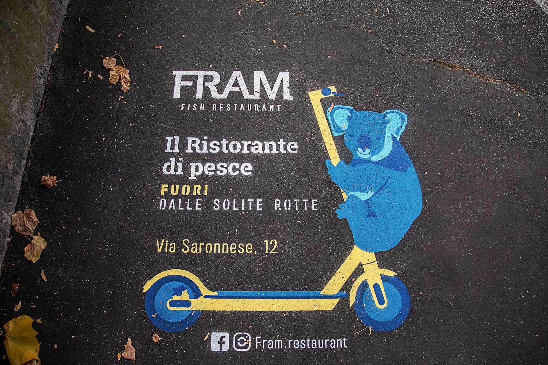 outdoor advertising fram