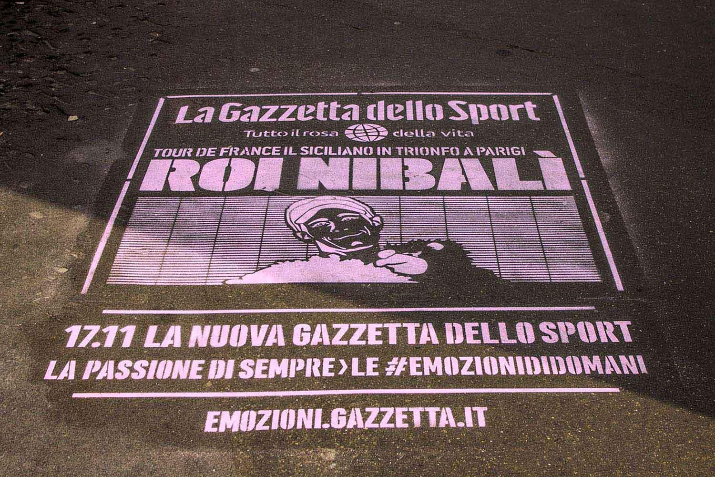 pubblicità outdoor gazzetta dello sport