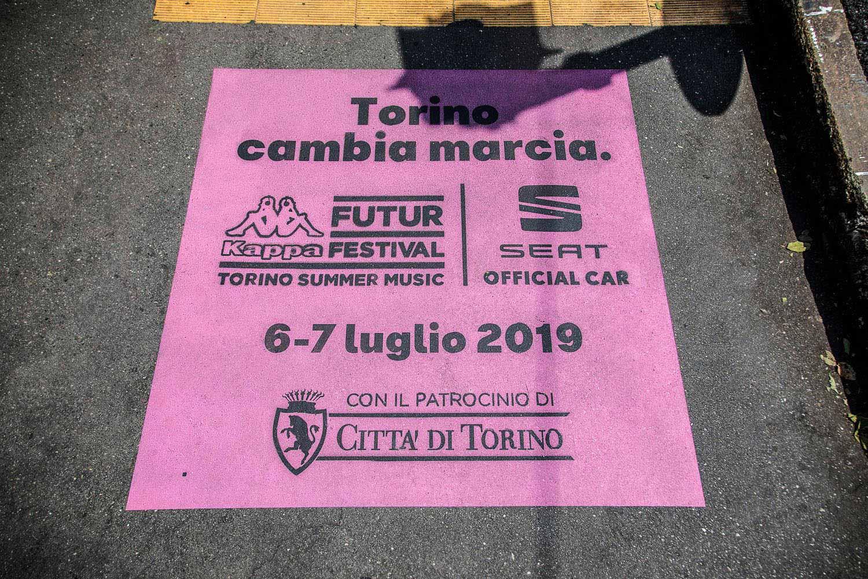 graffiti pubblicitari kappa future festival