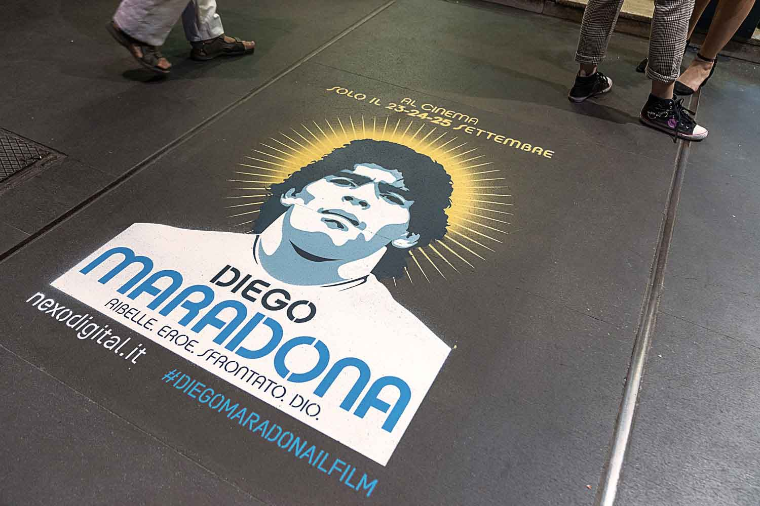 ambienti marketing nexo maradona