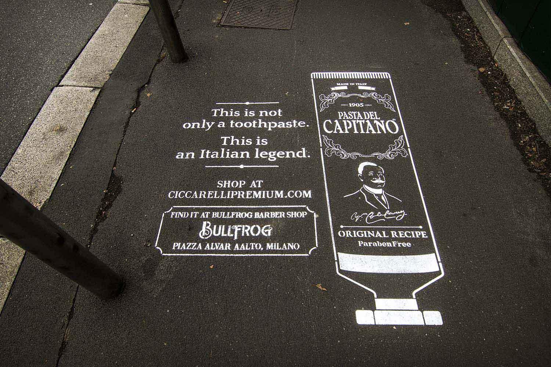 graffiti marketing pasta del capitano