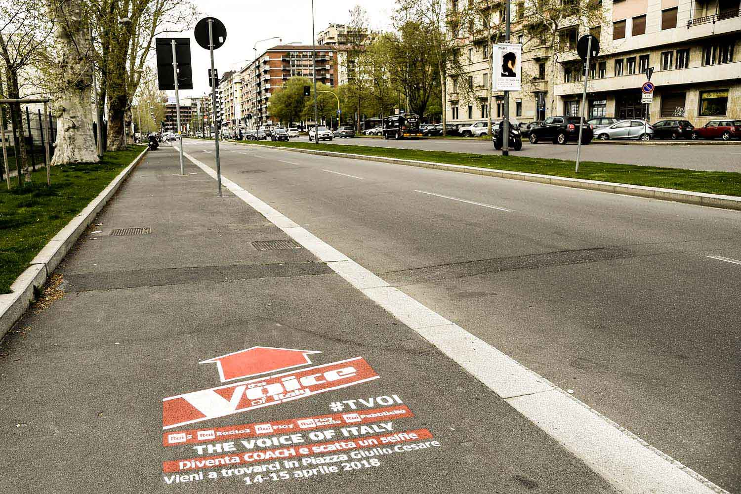 street advertisement rai the voice