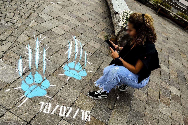 graffiti pubblicitari robe di kappa