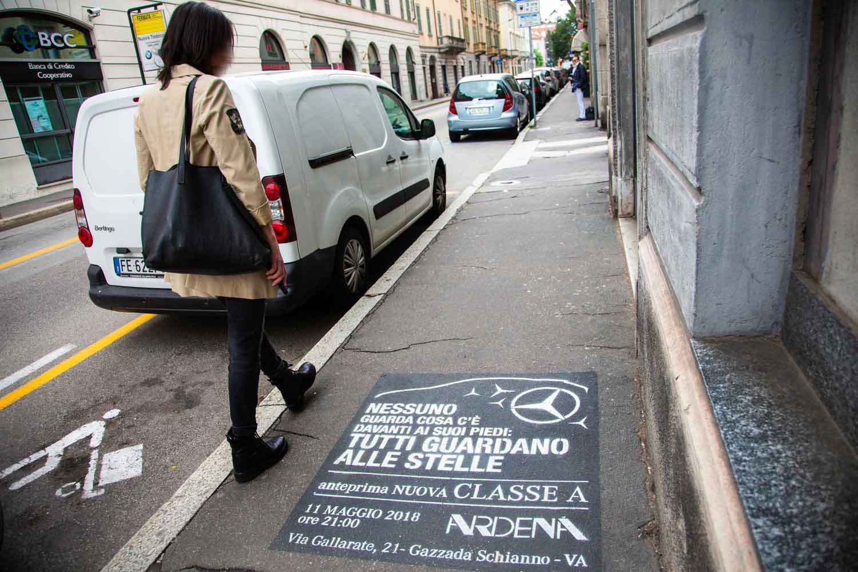 campagna pubblicitaria ardena mercedes