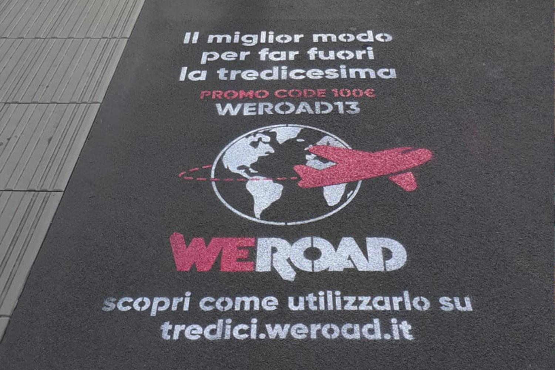 floor advertising weroad